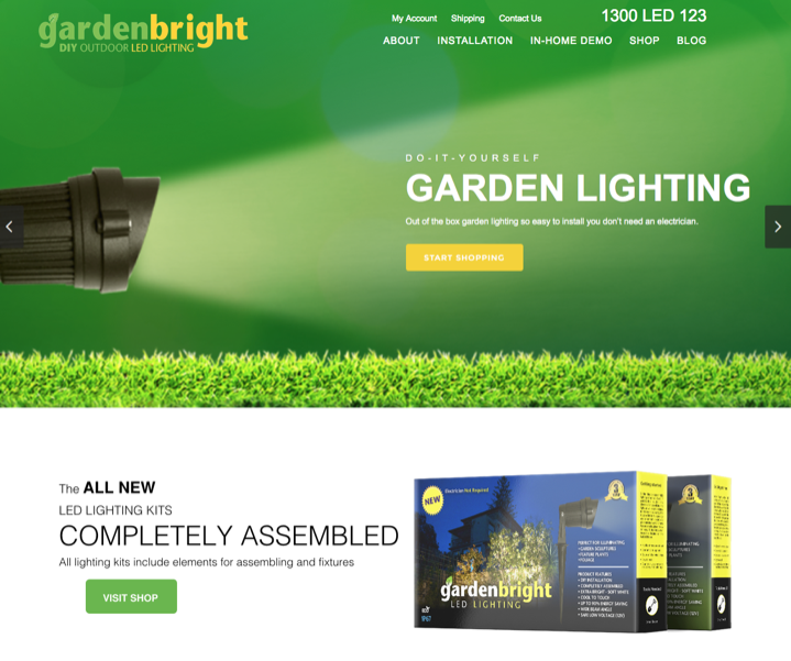 GardenBright Ecommerce Web Design