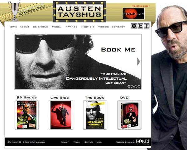 austen tayshus website re-design