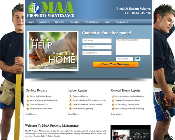 MAA Property Maintenance Sydney Handyman Website Design | Bondi ...