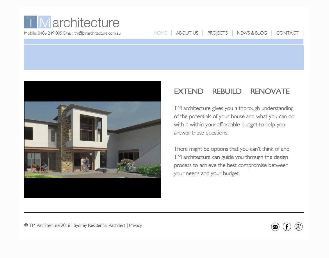 Sydney architecture website design bondi web design for Architecture design websites free