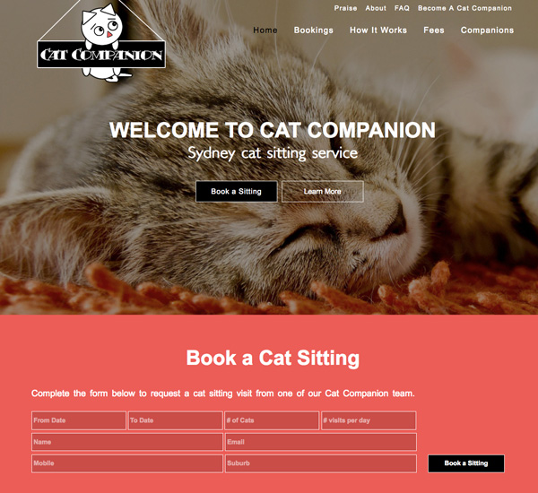 sydney-cat-sitting-web-design