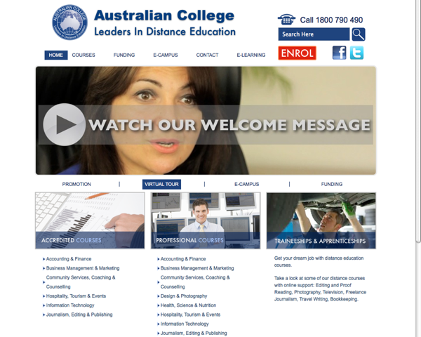 Australian-College-sydney-website-design