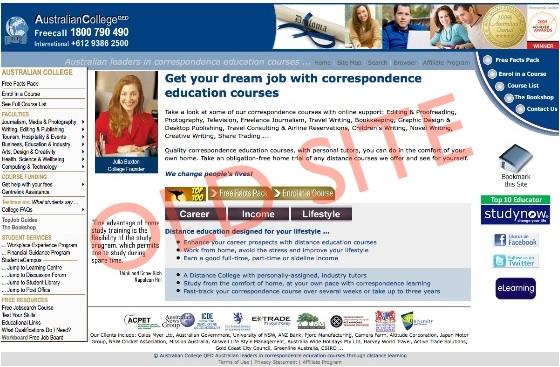 australian college old website