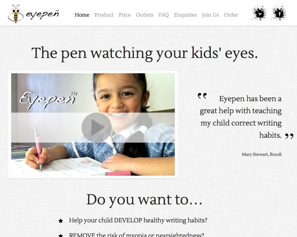 eyepen product information website