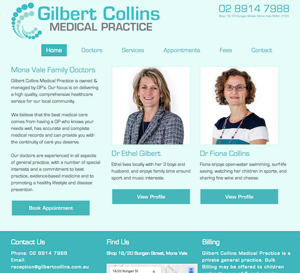 gilbert-collins-medical-practice-website