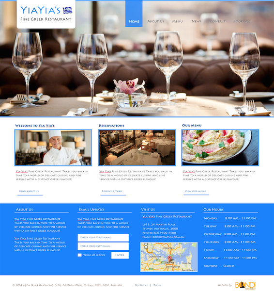 greek restaurant-website-design