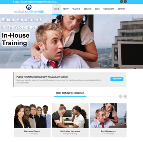 hr consulting website design